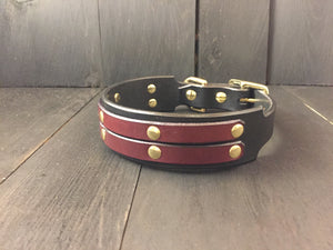 'OSCAR' SELECT LEATHER Dog Collar - 1.5""