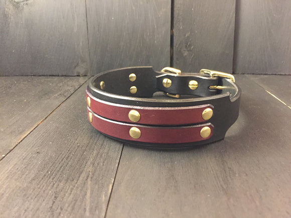 'OSCAR' SELECT LEATHER Dog Collar - 1.5