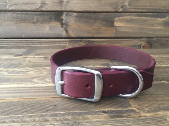 'HENLEY' LEATHER Classic Dog Collar  1