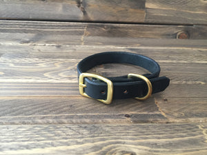 'HENLEY' LEATHER Classic Dog Collar - 5/8""