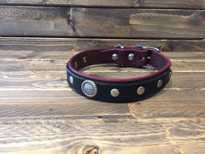 "COOPER SELECT Dog Collar   1"" - Oxblood"