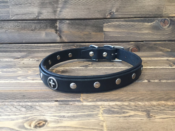 'JETT' SELECT LEATHER Dog Collar  1