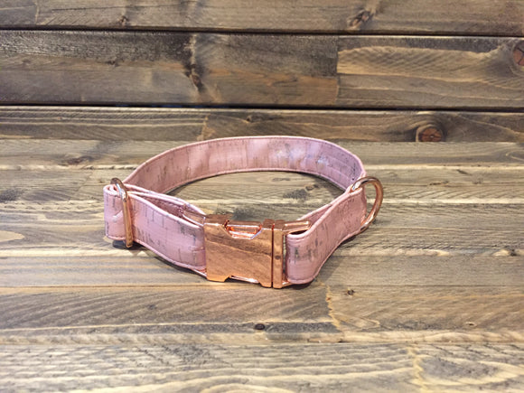 'PRETTY IN PINK' Cork Dog Collar  1