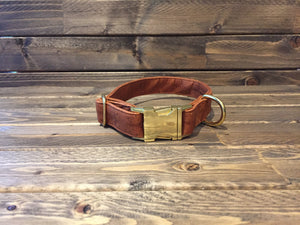 "'COPPER TOP' Cork Dog Collar  1"" - Copper"