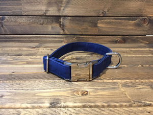 "'IN THE NAVY' Cork Dog Collar  1"" - Navy"