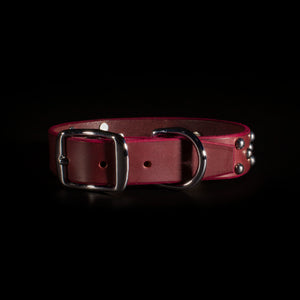 "IOMMI Dome/Cross Collar  1"" - Oxblood"