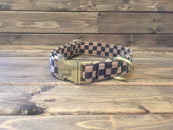 'CHECKMATE' Cork Dog Collar  1