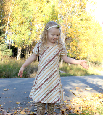 Fancy Stripes Magnolia Dress & Leggings Set - 4T - Ready to Ship