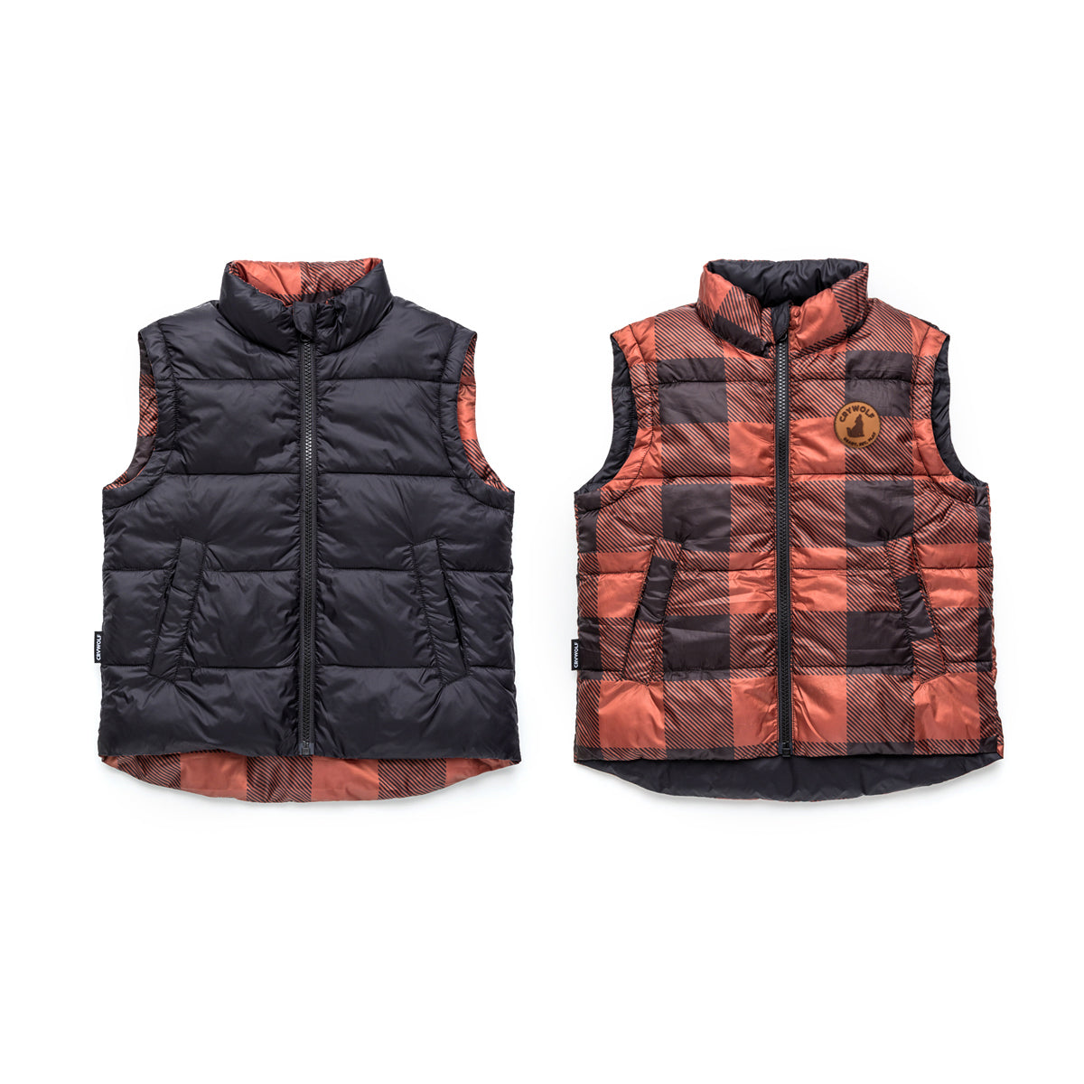 Reversible Vest Plaid