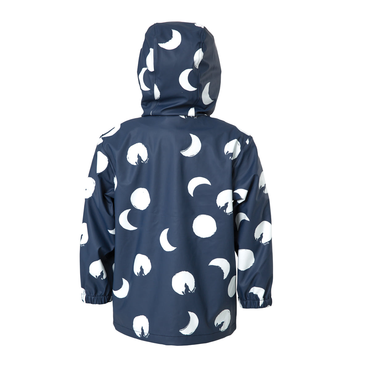 crywolf play jacket children's rain coat blue moon back