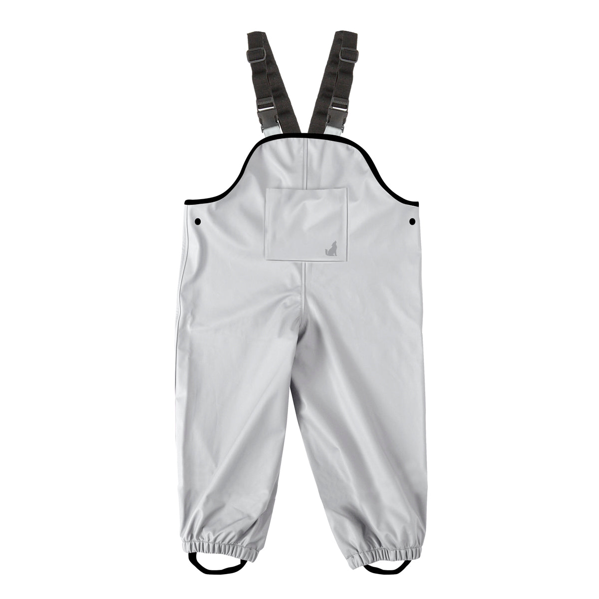 crywolf overalls children's rain grey front