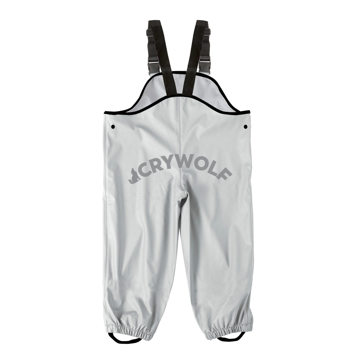 crywolf overalls children's rain grey rear