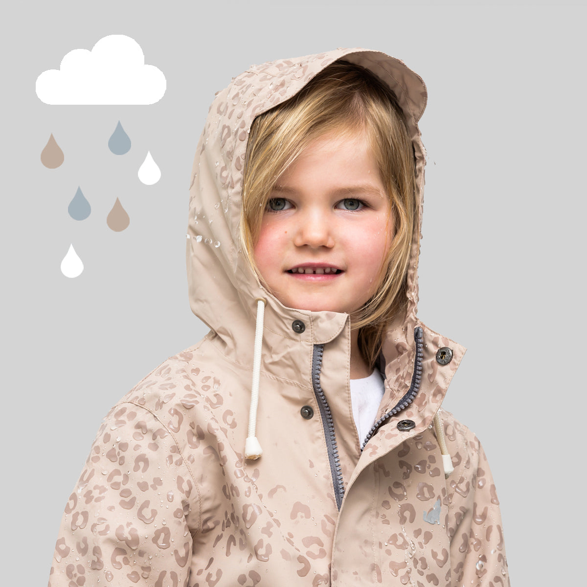 MAGIC JACKET Leopard Taupe 1-10yrs