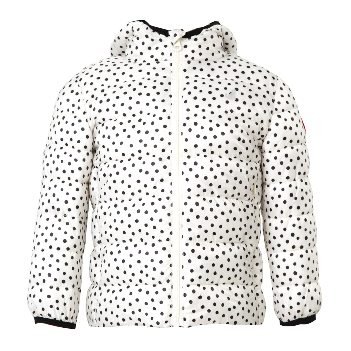 crywolf eco-puffer jacket children's spots front