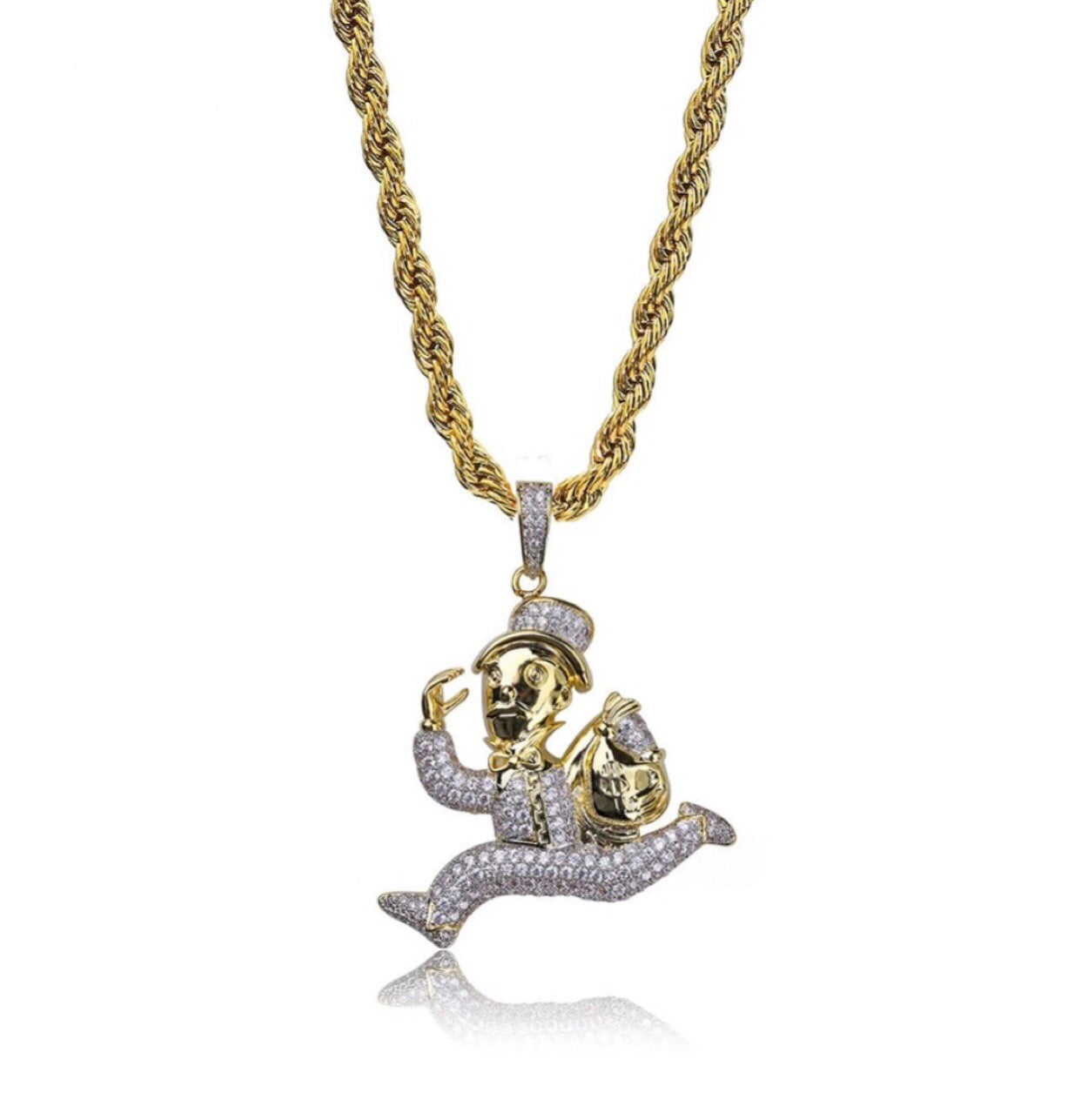 Monopoly running man pendant – Glorious Jewellers