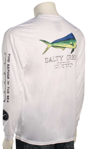 Salty Crew Angry Bull  L/S Tech Tee-White