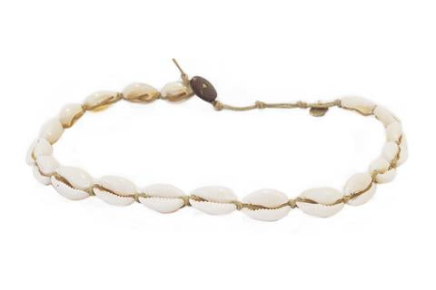Lotus and Luna Shell Choker / Double Wrap Bracelet - Paddles Up Paddleboards