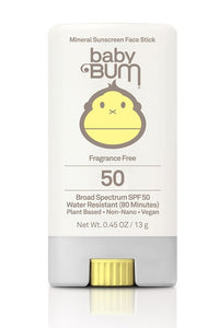 Sun Bum Baby Bum Mineral Sunscreen SPF 50 Face Stick 0.45 oz. - Paddles Up Paddleboards