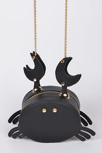 Black Crab Bag Purse