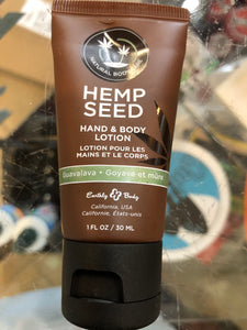 Hemp Seed Hand & Body Lotion 1 oz bottle - Paddles Up Paddleboards