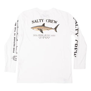 Salty Crew Bruce L/S Tech Tee-White - Paddles Up Paddleboards