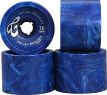 Cadillac Wheels Cruiser Blue Or Smoke Marble Skateboard Wheels - 70mm 80a (Set of 4)