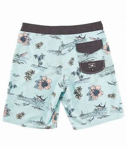 Salty Crew Men's Compass Boardshort-Mint - Paddles Up Paddleboards