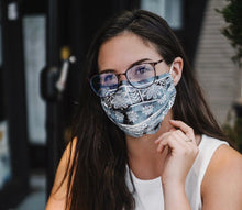 Lotus and Luna Nose Wire Pleated Print Face Mask