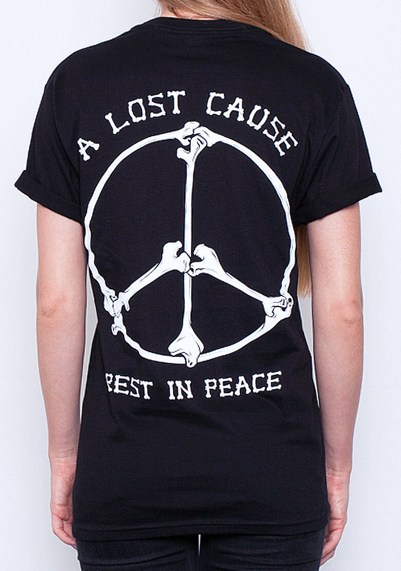 A Lost Cause Womens Tee Rest in Peace Bones