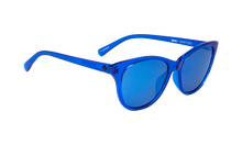 Spy Sapphire Gray with Dark Blue Mirror Sunglasses