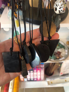 Shungite Assorted Shapes Necklaces