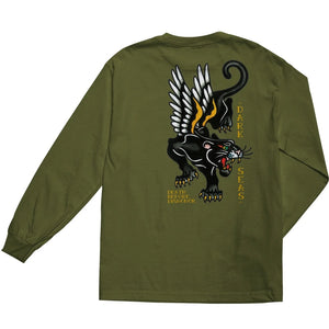Dark Seas Pounce Premium Tee- Military Green LS