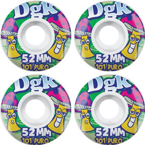 DGK Laffy Skateboard Wheels 52mm-White (set of 4)