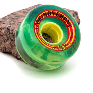 Satori Goo-Ball Rasta 62mm 78a Clear Green Wheels