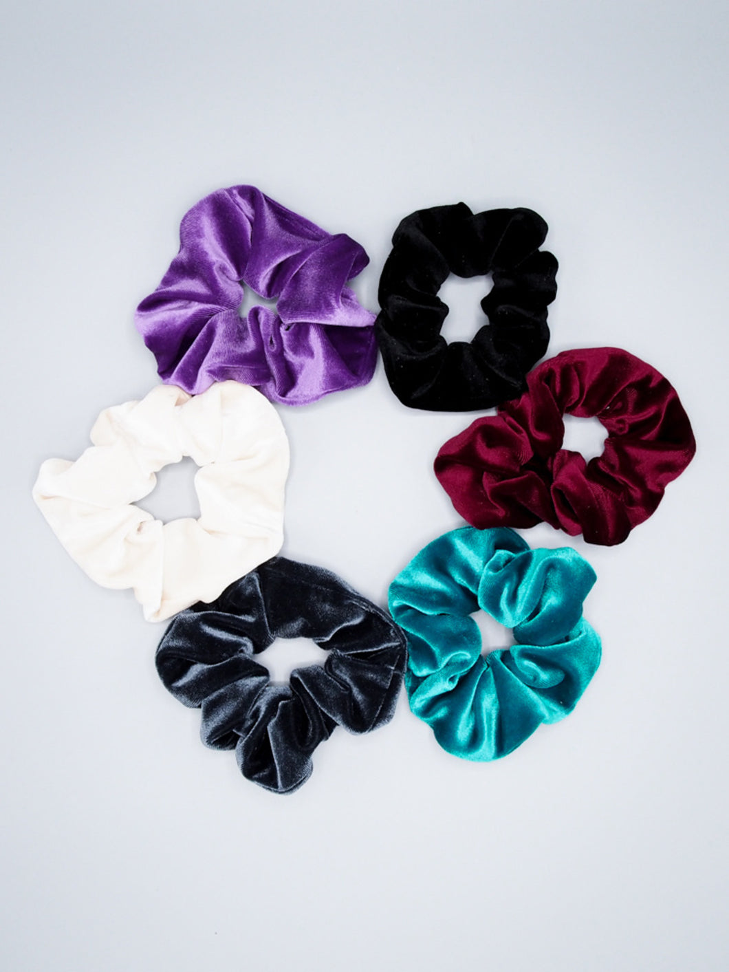 Velvet Lotus and Luna Scrunchies with Bow