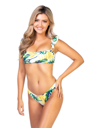 Beach Joy Bikini Yellow Tropical Bikini Set
