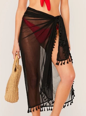Beach Joy Bikini Mesh Sarongs