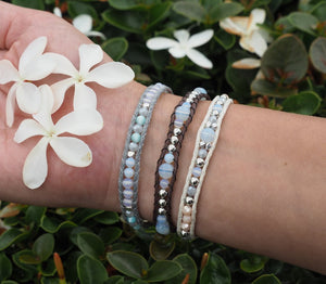 Lotus and Luna Moon Beam Single Bracelets