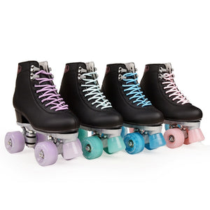 Artificial Leather Roller Skates Double Line Skates Women Men Adult Two Line Skate Shoes Patines With Four colors PU 4 Wheels