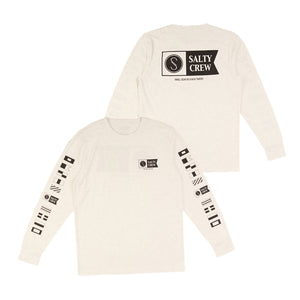 Salty Crew Alpha Premium L/S T-Shirt-White Cotton