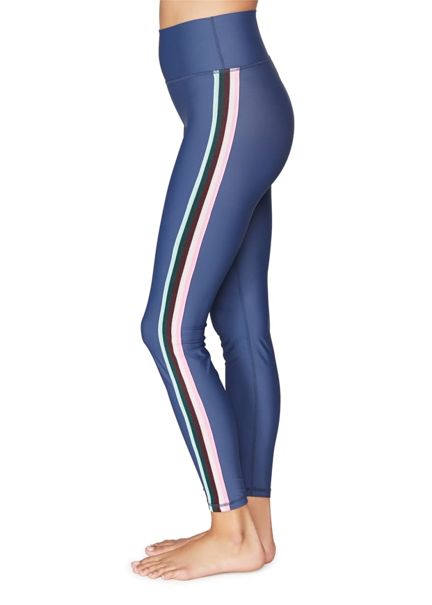 Spiritual Gangster 7/8 High Waist Legging-Navy - Paddles Up Paddleboards
