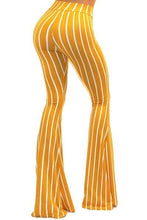 Got Style Yellow/White Striped Bell Bottom