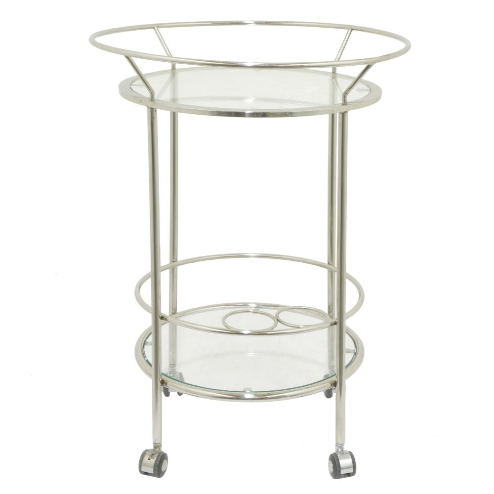 Bar Accessories Twilight Home Decor Gifts Round Metal Glass Bar Cart  Reviewsmspy