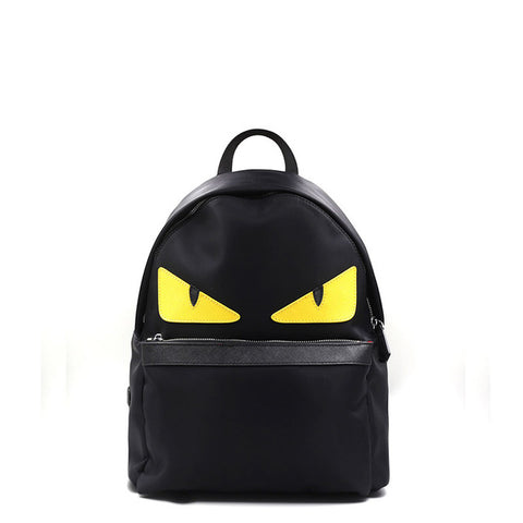 Women Little Monster Backpack Eye Men Waterproof Import Oxfo Bags Printing School Bag for Teenagers Mochila Escolar Black