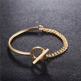 ZINDOV New Bracelet For Women Luxury Brand Gold Rose Gold Silver Stainless Steel Fashion Jewelry 2017 Wristband Bangles Female