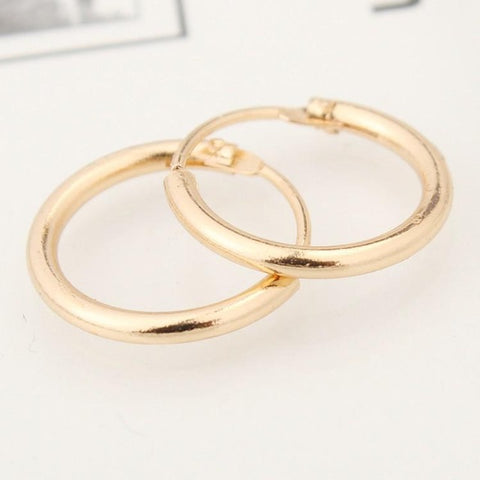 South Korea Jewelry Fashion Earrings Lovers Circle Ear Ring Earrings For Women And Rings Earrings  Female Hip Hop Hoop Earrings