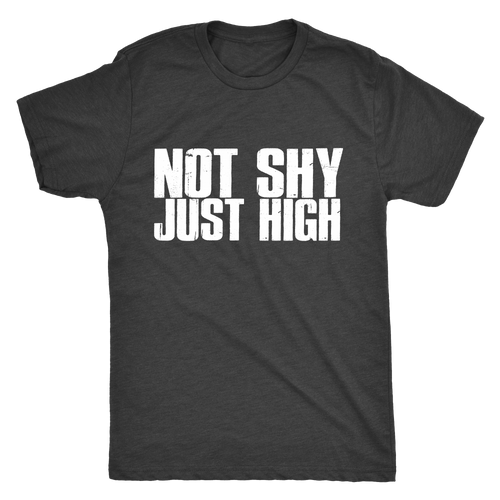 Not Shy, Just High Men's Triblend Tee