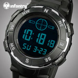 INFANTRY Watch With Quartz Movement: Features Include, 30M Waterproof, LED Large Dial Quartz, Military Luminous Chronograph.