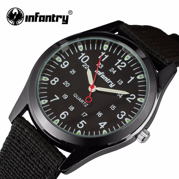 INFANTRY Watch With Quartz Movement: Features Include, 24 Hrs Display, Luminous, Stainless Steel.