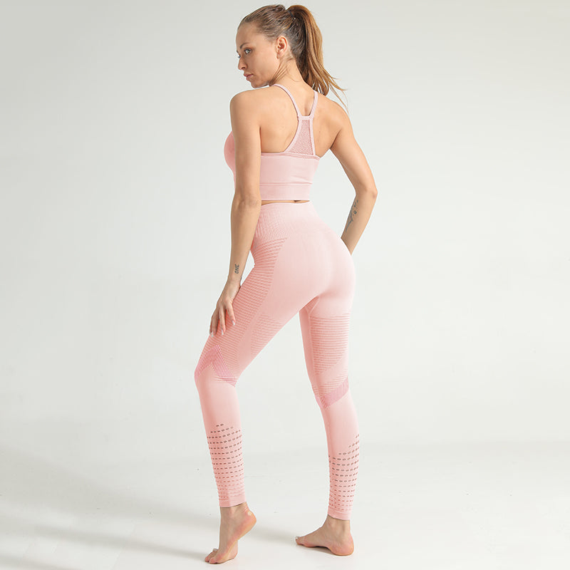 Mesh Fitness Leggings Set